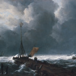 Jacob van Ruisdael, Rough Sea at a Jetty, 1650s. Courtesy of the Kimbell Museum, Ft. Worth, TX