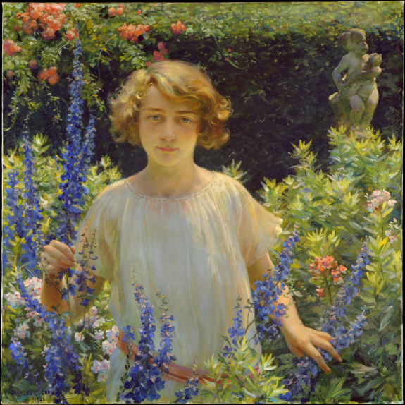 Charles Courtney Curran, Betty Newell, 1922. Compliments The Metropolitan Museum of Art, NYC.